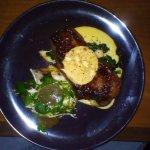 Main: Steak with garlic butter and mushroom sauce
