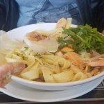 Seafood tagliatelli