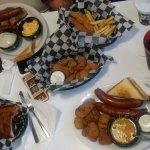 Ribs,elk jalapeno elk sausage, fried pickles yummyy