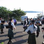 GAIRLOCH PIPE BAND AT HOTEL