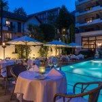 Pool, Restaurant - Sunstar Boutique Hotel Villa Caesar, Brissago, Tessin