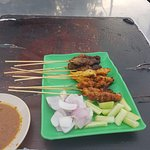 3 types of satay (chicken, spicy chicken and beef)