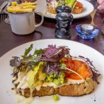 Crab bruscetta, The Hero, Burnham Overy Staithe