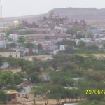 Temple and city view from Desert camp