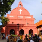 Everyone visits the Dutch Square & Christ Church - Malacca, MALAYSIA