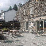 Fresher's Cafe & our outside cortyard