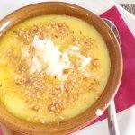 Polentina morbida con formaggio di fossa