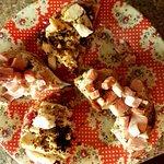 Chicken, chunky ham, homemade stuffing, honey mustard and cranberry sauce bagel