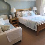 The All At Sea Room 2nd Floor front facing King Size bed Sea Views