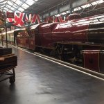 One of several spectacular steam trains on display in Station Hall