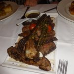 Rib eye steak for two