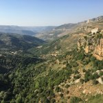 View from the restaurant Manzar Al Challal. The very first one at the main entry of Jezzine