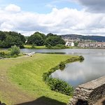 Caerphilly Castle moat and walk