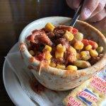 Delicious shrimp and sweet potato casserole