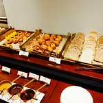 Selection of baked goods for breakfast