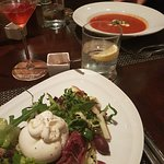 Tomato soup + Burrata Salad