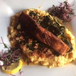 Salmon with cheese grits! YUM