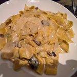 Pappardelle con salsa de trufa