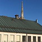 Spitze Stephansdom vom Balkon