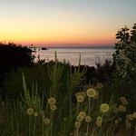 Sunset from restaurant terrace