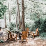 Fire pit and adirondack chairs, nothing more relaxing!