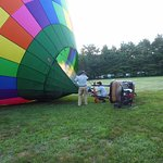 Prepping the balloon for flight
