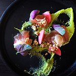 Marlin Crudo with Pickled Radish