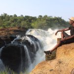 taking in views of Murchison falls