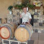 Mike Naggiar and barrel tasting