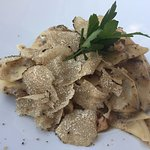 home made pasta with truffles
