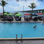 Sunset Grille & Raw Bar - View of Pool and 7 Mile Bridge
