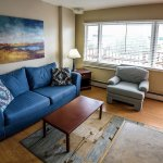 Living room in 4 Bed Dormitory Suite