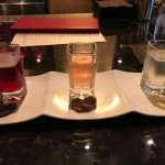 Flight of prosecco and chocolates