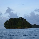 Monkey Island... during low tide, it has a beach and the boats will drop you off and pick you up