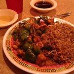 Gung Po Gai Ding & Fried Rice - AWESOME!