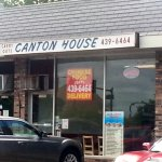 front of & entrance to Canton House