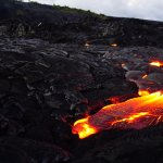 Close up to the lava