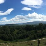 Glorious panoramic view on our walk up the hill