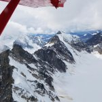 Flight seeing over snowy peaks!