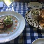 Bluefish pate + tuna tartare - both great!