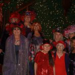 These are some of the ladies in my Red Hat Society chapter enjoying a Christmas Brunch
