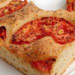 Focaccia bread with tomato and oregano