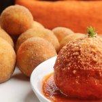 Arancini flavors: Pesto, Bolognese, Portobello Mushroom, Ham & Cheese, Veggie