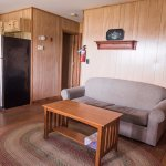 Comfortable living areas in every cabin