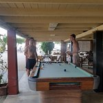Here's the pool table that is next to the bar and restaurant area.