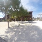This is the hostel (which is super clean and comfy) and UWV's private beach.