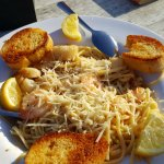 DRIFTWOOD SHRIMP AND SCALLOP SCAMPI, it also comes with a salad. The portion is enough for 2.