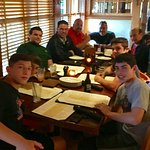 The boys getting a great meal!