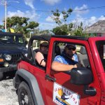 Heading out on our guided Jeep tour of the island