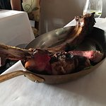 The tomahawk leftovers... delicious but enormous